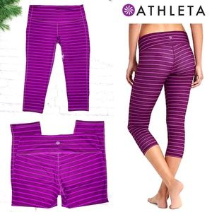 NWOT |•ATHLETA•| Chaturanga Striped Capri